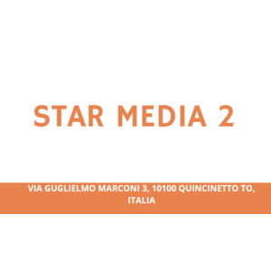 STAR MEDIA 2 Via Guglielmo Marconi 3, 10100 QUINCINETTO TO, Italia